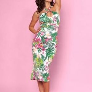 Size XS/S 4 Bettie Page tropical crossover wiggle